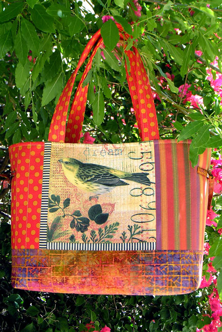 Tote-yellow-bird-collage