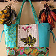 10 Turquoise with Shooting Star Tote