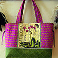 13 Magenta Olive Shooting Star Tote