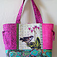 15 Jenny's Sparrow Collage Tote