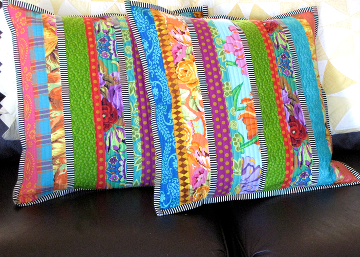 Pillow-quilted-fabric-strip